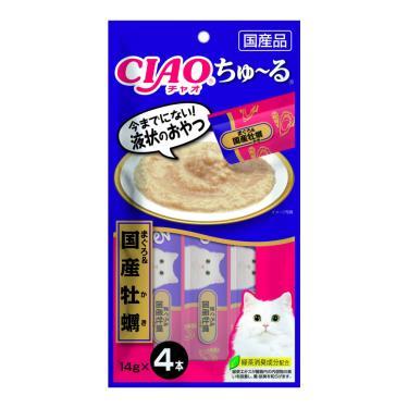CIAO 啾嚕肉泥-鮪魚+牡蠣14g*4入/包 日本製