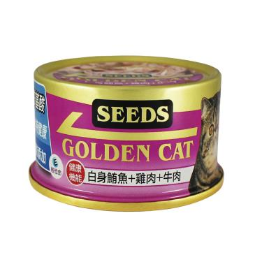 黃金貓罐-白身鮪魚+雞肉+牛肉80g