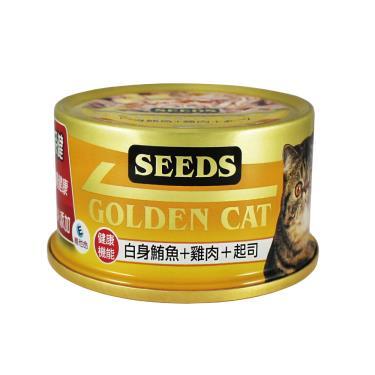 黃金貓罐-白身鮪魚+雞肉+起司80g