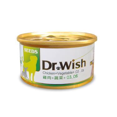 DrWish狗罐-雞+菜+鮪魚油85g