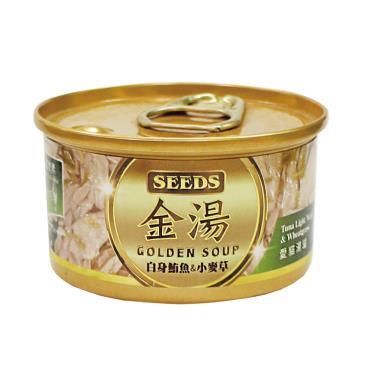 金湯愛貓湯罐-白身鮪魚+小麥草80g