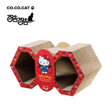酷酷貓貓抓板-HelloKitty聯名菱形雙窩