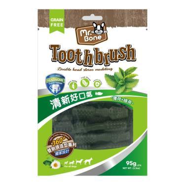 Mr.Bone多效潔牙骨(S)-薄荷+綠茶(95g袋裝)