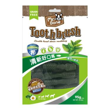 Mr.Bone多效潔牙骨(M)-薄荷+綠茶(95g袋裝)