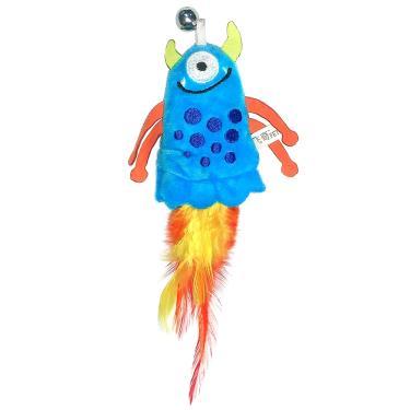 小怪獸逗貓玩具-四爪獸(深藍)