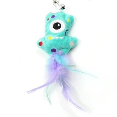 小怪獸逗貓玩具-獨眼怪(淺藍)