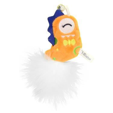 小怪獸逗貓玩具-爆毛款(橘)