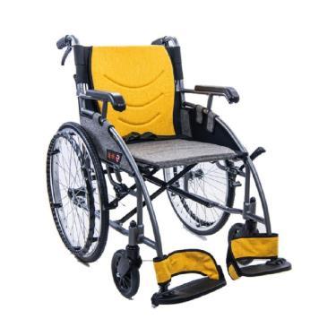 均佳  鋁合金流線便利型輪椅 固手固腳 背可折 JW-X20 廠送