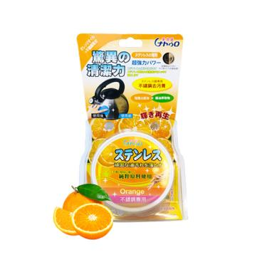 萊悠諾Naturo-不鏽鋼去污膏180g-橘油(橘)