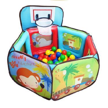 Vibebe 猴子投籃氣墊球屋(附贈100顆球及收納袋)-廠送