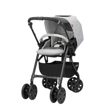 (送雨罩+育兒掛袋+握把套) COMBI-CROSSGO雙向手推車-晶瓷灰(15023) (廠)