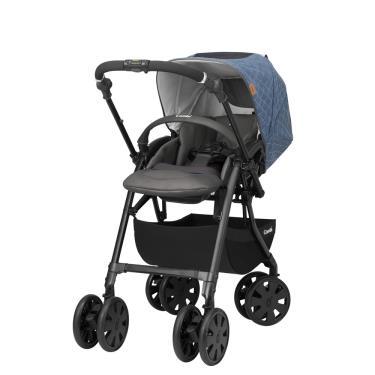 (送雨罩+育兒掛袋+握把套) COMBI-CROSSGO雙向手推車-米格藍(15116) (廠)