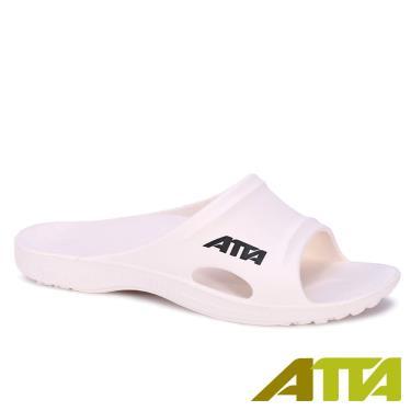 ATTA 足底均壓 足弓支撐簡約休閒拖鞋 白色 (8號)