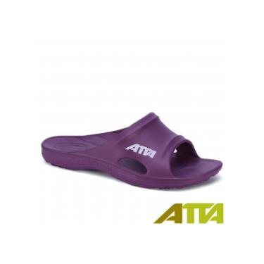 ATTA 足底均壓 足弓支撐簡約休閒拖鞋 紫色 (6號)