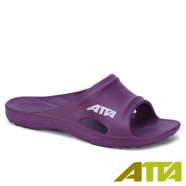 ATTA 足底均壓 足弓支撐簡約休閒拖鞋 紫色 (8號)
