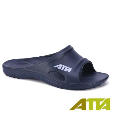ATTA 足底均壓 足弓支撐簡約休閒拖鞋 藍色 (10號)