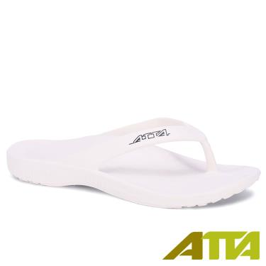 ATTA 足弓簡約夾腳拖鞋 白色 (8號)
