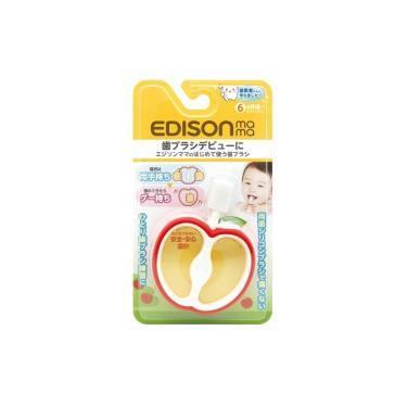 日本EDISON  寶寶的第一個牙刷(蘋果型/6個月以上)