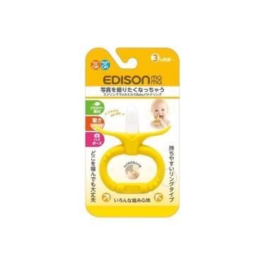 日本EDISON  嬰幼兒趣味香蕉潔牙器(環狀/3個月以上)