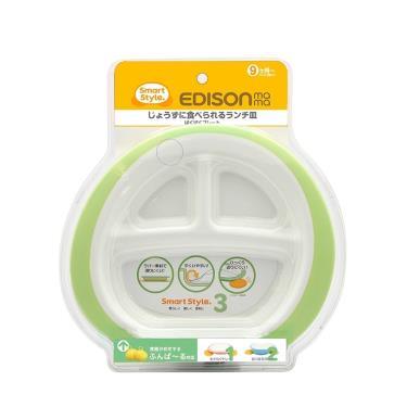 日本EDISON 嬰幼兒學習餐盤(綠)