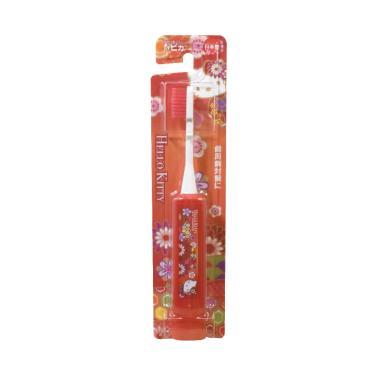日本 Hapica 和風HelloKitty兒童電動牙刷(紅色)