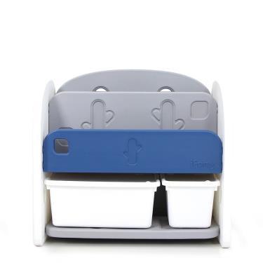 韓國iFam 藍色書架收納組(2個收納盒)-廠