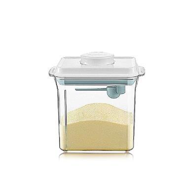 ANKOU LIFE安酷生活一鍵搞定防滑刮平奶粉罐1700ml 透明款 (附贈勺子+掛具+三角刮平片)-廠送