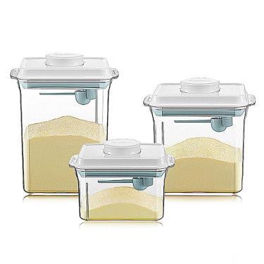 ANKOU LIFE安酷生活一鍵搞定防滑刮平奶粉罐1000+1700+2300ml透明款-廠送