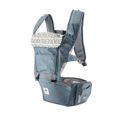 ALL NEW NO.5升級版機能型坐墊揹巾-經典英國藍-廠送