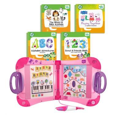 LeapFrog 迪士尼全英文幼童點讀學習系列 幼兒粉色主機+4書(幼兒2、3、9、14)-廠送