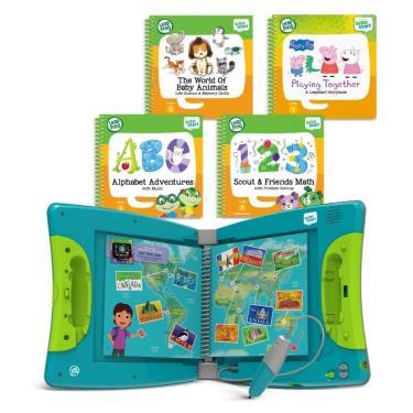 LeapFrog 迪士尼全英兒童行動學習系列 全英兒童行動學習機+4書(幼兒2、3、9、14)-廠送