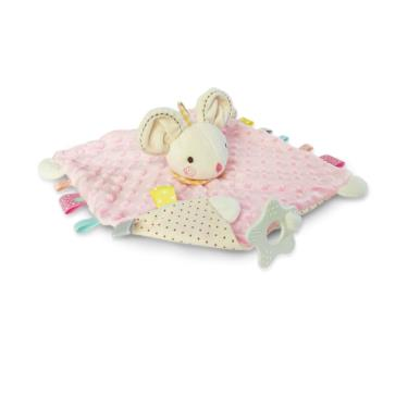Ocean Baby可愛動物捏捏安撫巾-粉色鼠妹妹-廠