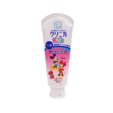 日本 LION可吞嚥幼兒牙膏(草莓)60g