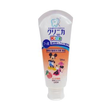 日本 LION可吞嚥幼兒牙膏(水蜜桃)60g