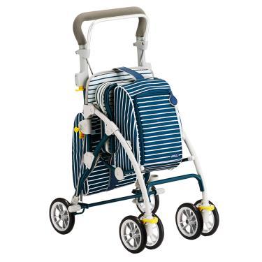 FranceBed 旅行散步購物車 寶石藍 廠送 (可當臨時休憩椅)