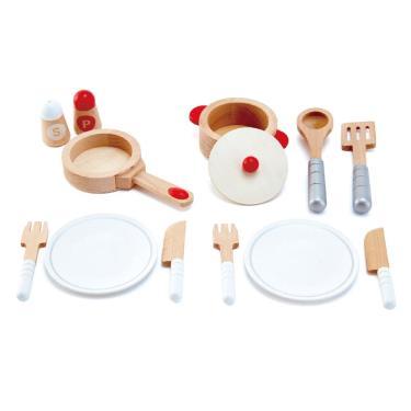 Hape 愛傑卡 品味大師木製餐具組 (廠)