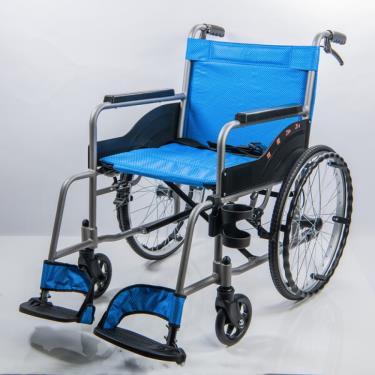 均佳 經濟型鋁合金輪椅(附杯架) 固定扶手 背不可折 JW-110 廠送