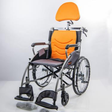 均佳 鋁合金流線型經濟款輪椅(靠頭組) 背可折 JW-125-20 廠送