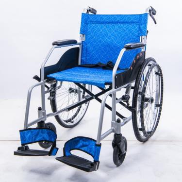 均佳 鋁合金輕量化輪椅(便利型) 固手固腳 背可折 後輪22吋 JW-EZ-22 廠送