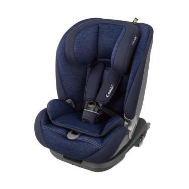 (送安睡托護頸枕) COMBI-Savetrek ISOFIX成長型座椅 閃蝶藍 (17882) (廠)