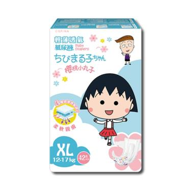 櫻桃小丸子 輕薄透氣【紙尿褲】XL(42片x4包/箱)-廠送