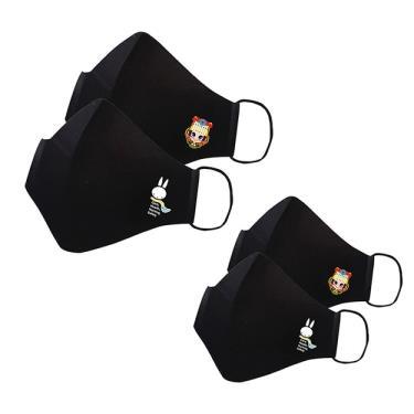 【抱抱】奈米銀離子布織防護口罩-4入組(兔S/M+媽祖S/M)(附贈防護收納袋*2)-廠送