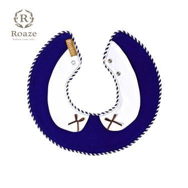 Roaze 柔仕 典雅圍兜 深藍白領