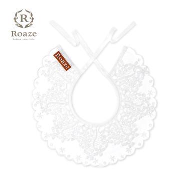 Roaze 柔仕 典雅圍兜 刺繡 白