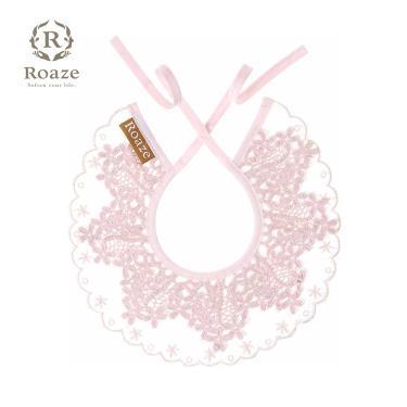 Roaze 柔仕 典雅圍兜 刺繡粉