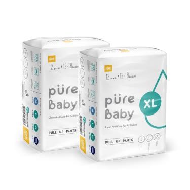 YOME  PureBaby 超輕薄拉拉褲 旅行裝體驗組XL號(12片x2包)-廠送