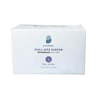 YOME  PureBaby 超輕薄拉拉褲 旅行裝箱購L號(12片x12包)-廠送