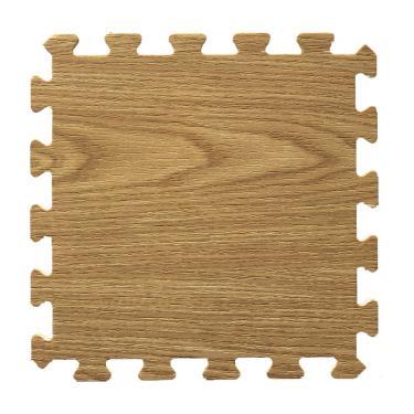 新生活家 EVA耐磨橡木紋地墊-深色32x32x1cm 30入 廠送