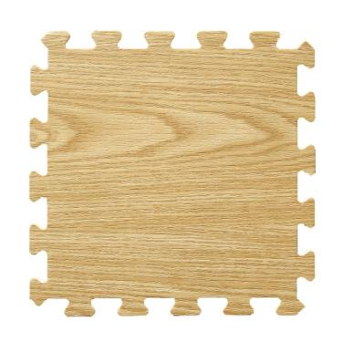 新生活家 EVA耐磨橡木紋地墊-淺色32x32x1cm 30入 廠送
