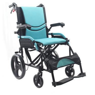 I CARE 艾品 鋁合金流線型輪椅 小輪折背 IC-510 廠送
